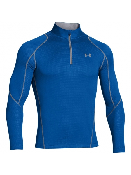 Under Armour Heren LS Shirt Coldgear Infrared Grid 1/4 Zip Black